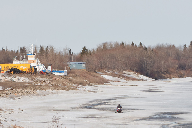 Snowmobile on the Moose River 2011 April 22nd.