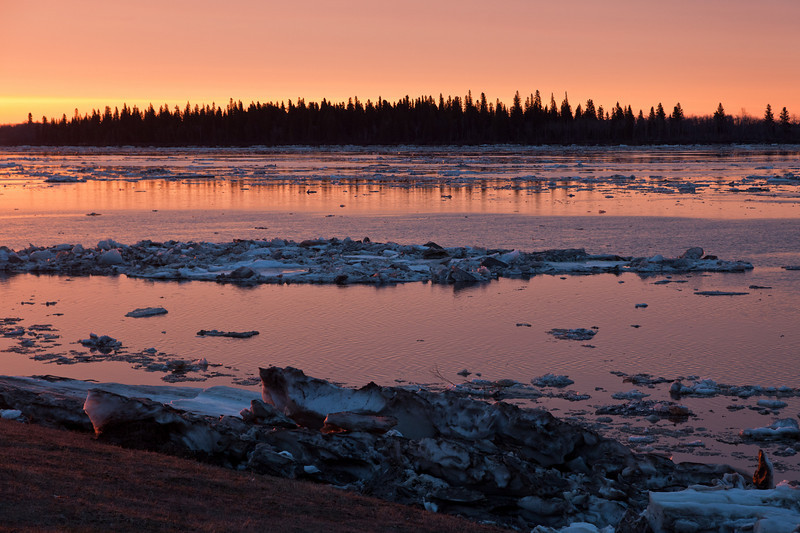 Butler Island and ice at sunrise 2011 May 1st