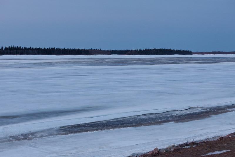 Moose River at dawn looking upstream 2011 April 23rd