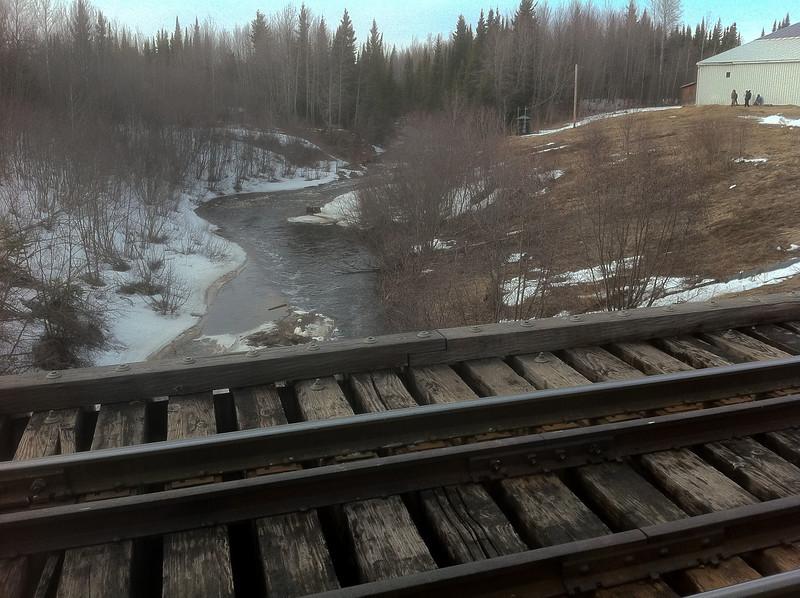 Store Creek looking upstream from railway bridge