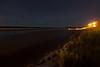 Moose River shoreline by moonlight