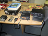 Amateur radio equipment formerly used by operator Father Serge Allard VA3SAO in Fort Albany, Ontario.