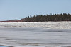 North end of Butler Island with ice flowing in front