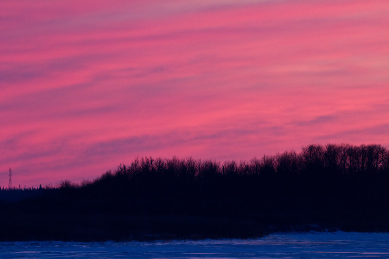 Moose River at sunset 2011 Nov 29