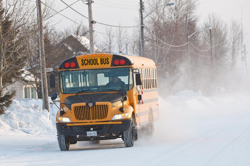 School bus on Revillon Road 2011 March 25th