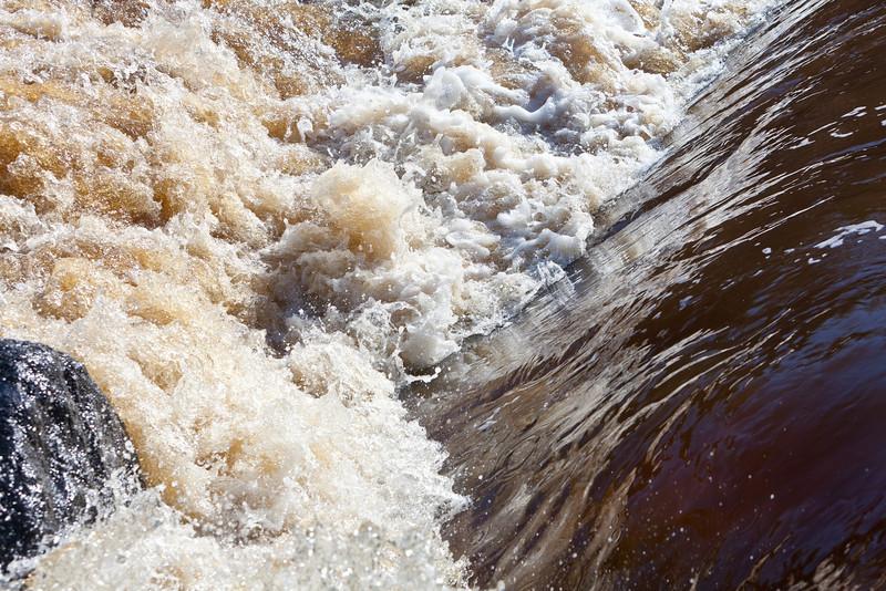 Water flowing over Store Creek dam 2011 April 29