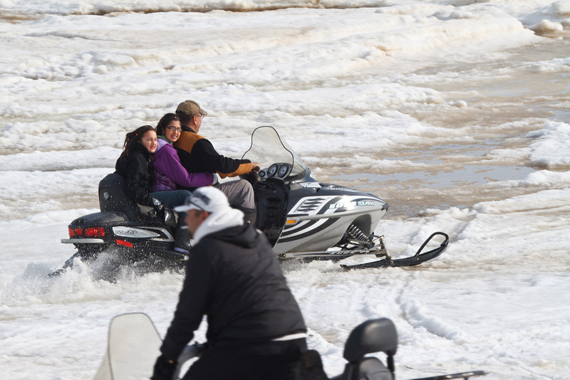 Snowmobile on the Moose River