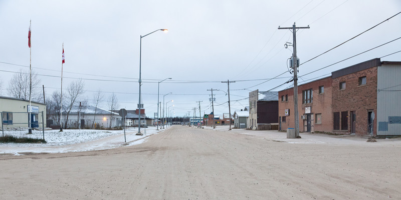 First Street Moosonee looking towards tracks.