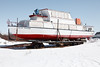 Tourist boat the Polar Princess in winter storage.