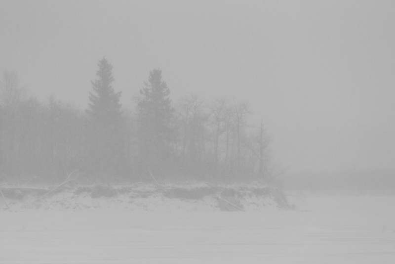 South end of Butler Island during storm.