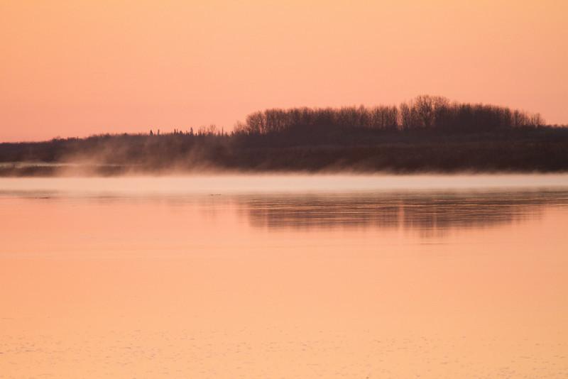 Morning fog downriver