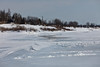 Moosonee shoreline from Church of the Apostles towards barge docks