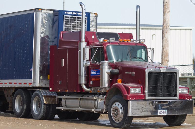 Wabusk Logistics truck at Moosonee Airport.
