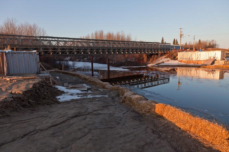 Airport Road bridge with new bridge under construction