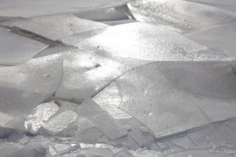 Fractured surface ice