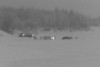 2011 January 15 before dawn on a cloudy morning: vehicles on the Moose River.