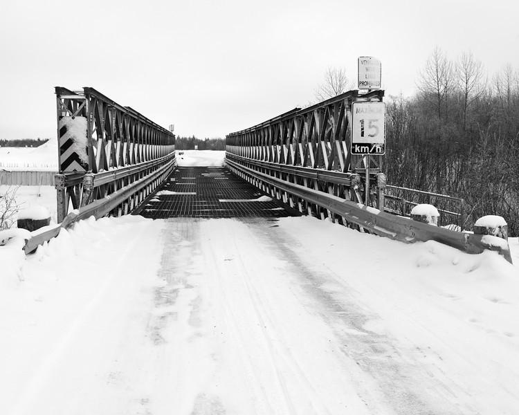 Bailey bridge crossing Butler Creek.