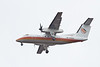 Air Creebec DHC-8 C-GJOP over the Moose River about to land at Moosonee, Ontario 2011 May 13th