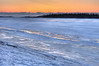 Sunrise over the frozen Moose River at Moosonee, Ontario 2011 April 14th. HDR from three bracketed shots.