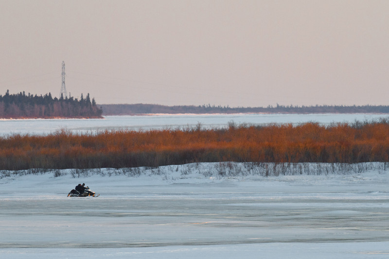 Snowmobile on the Moose River 2011 April 19th