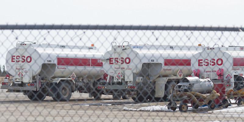 Fuel trucks at Moosonee Airport