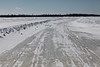 """The """"north"""" winter road from Moosonee to Moose Factory."""