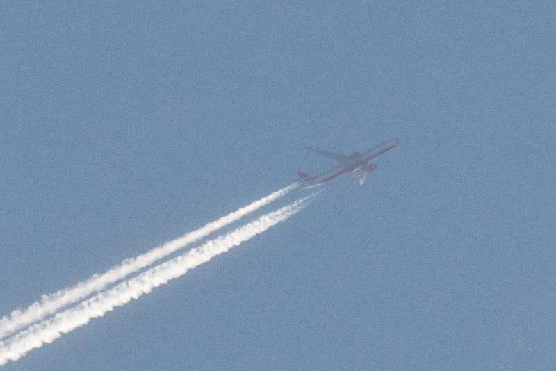 High flying aircraft going over Moosonee