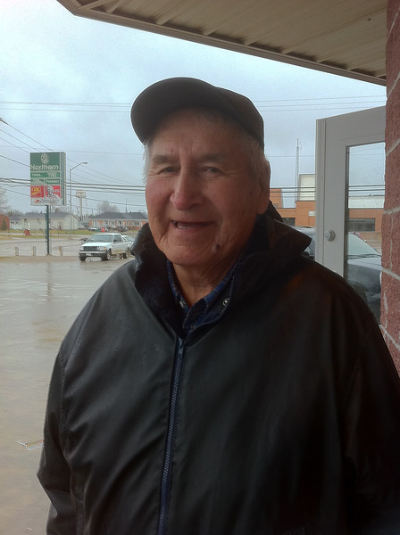 Oliver Davey Sr. outside Northern Store in Moosonee 2011 May 13th