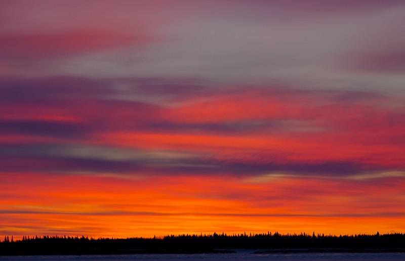 Clouds before sunrise. Three exposures.