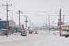 First Street in Moosonee seen from railway station 2011 February 18th.