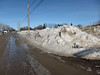 Snowbanks near Ferguson Road and Cotter Street