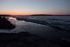 Looking down the Moose River before dawn 2011 April 30th at Moosonee, Ontario