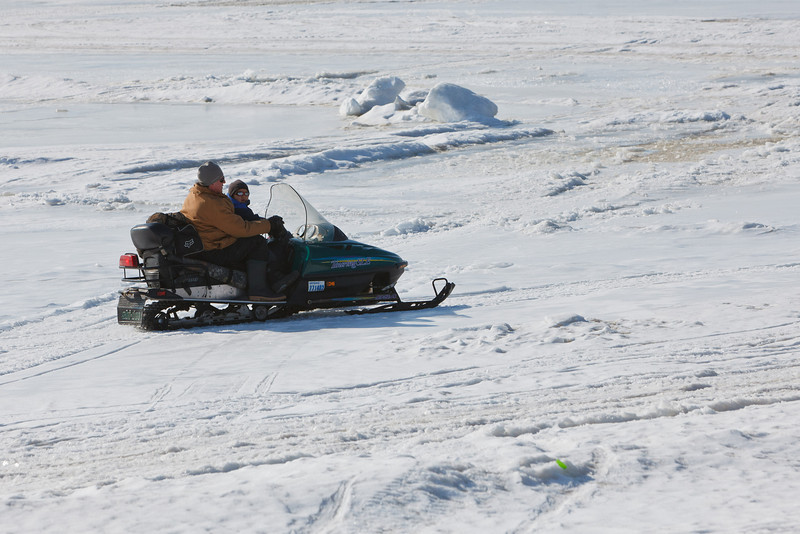 Snowomobile on the Moose River.