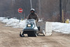 Snowmobile on Veterans Road