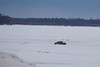 Taxi on road to Moose Factory 2011 April 4th