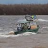 Canoes serve as water taxis between Moosonee and Moose Factory 2011 May 13th