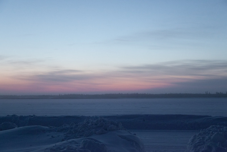 2011 January 22nd looking across the Moose River before dawn.