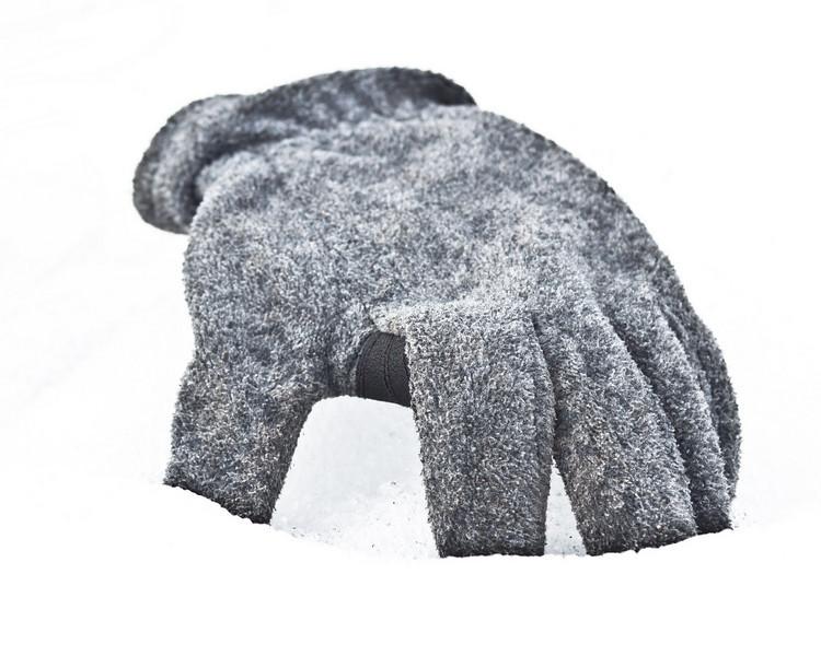 Glove in snow