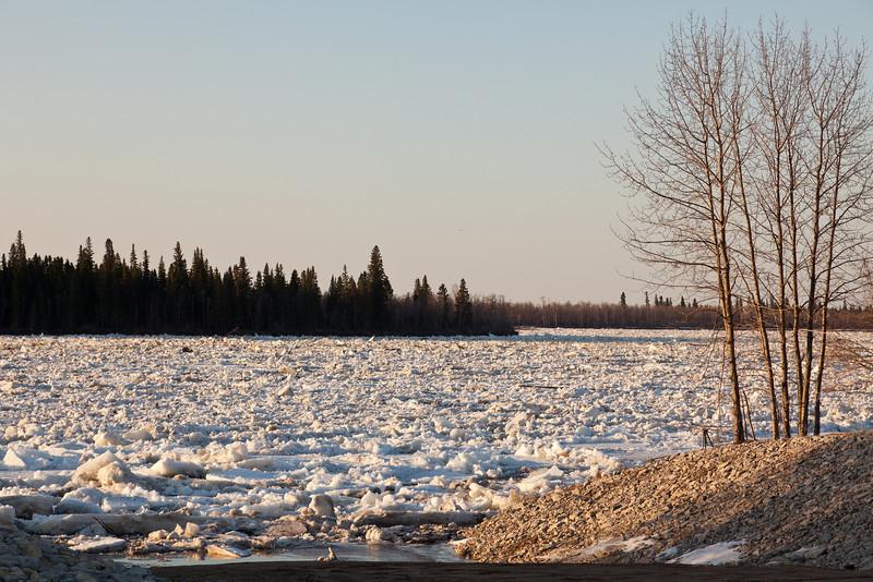 Ice near north winter road