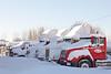 Trucks behind Moosonee Lodge 2011 January 18th