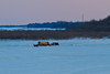 Bus and other vehicles on the Moose River. Photograph taken by Denise Metatawabin  April 2nd