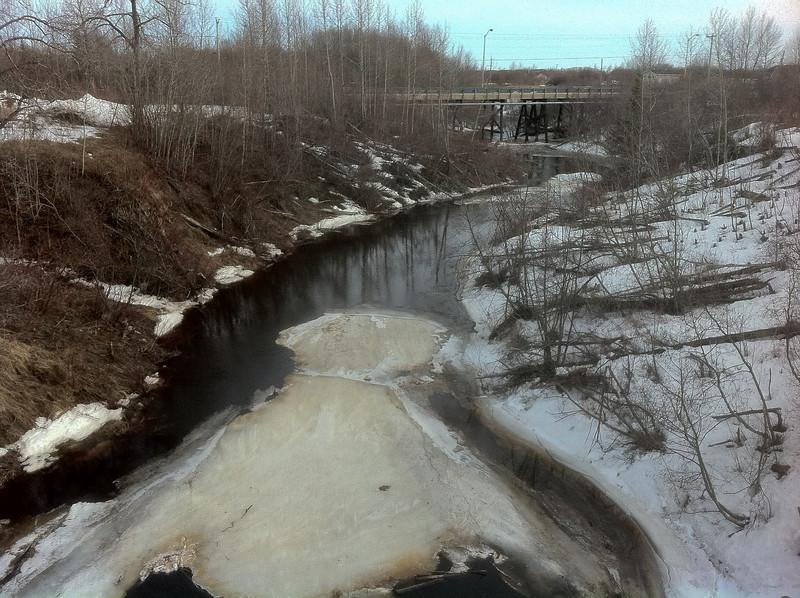 Store Creek looking downstream from railway bridge