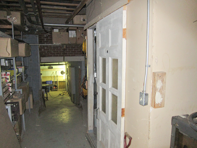Christ the King Catholic Cathedral workshops and mechanical spaces at back of basement 2011 February 23rd.