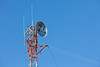 Top of Ontario Northland Telecommunications tower in Moosonee