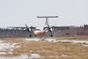 Air Creebec DHC-8 landing at Moosonee 2011 April 21