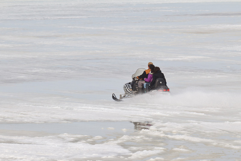 Snowmobile on the Moose River 2011 April 10th.