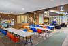 Northern College Cultural Program in Moosonee. Tables set in lobby.
