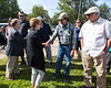 Ontario Premier Kathleen Wynne and Minister of Northern Development and Mining Michael Gravelle in Moosonee.