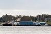 Tugs and barges docked in Moosonee.