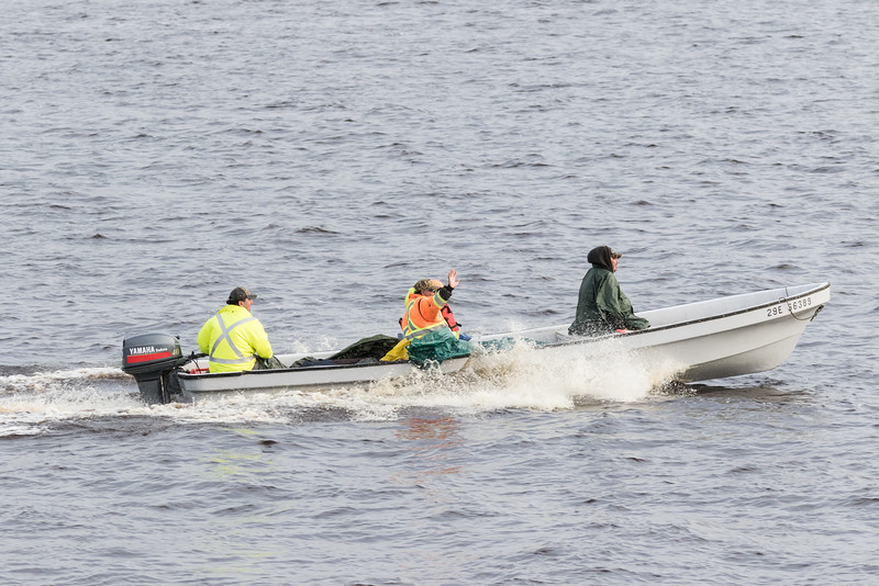 Canoe heading up the Moose River.